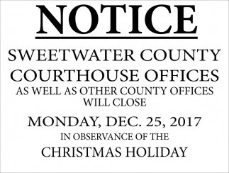 Sweetwater County Courthouse Offices