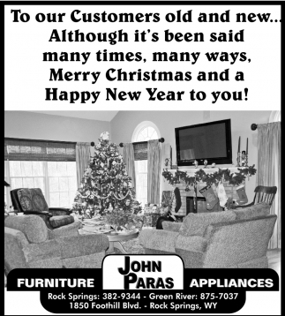 Incroyable #1 N Customer Satisfaction, John Paras Furniture And Appliances, Rock  Springs, WY