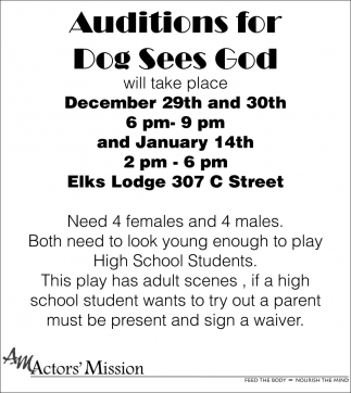 Auditions For Dog Sees God