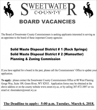 Board Vacancies