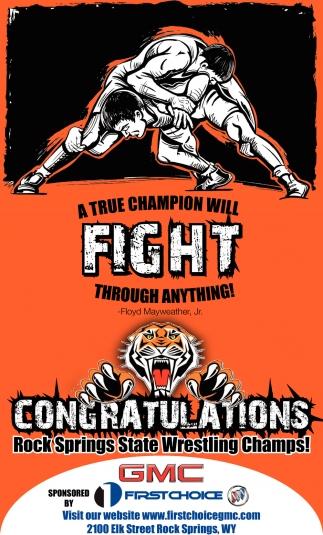 Congratulations Rock Springs Estate Wrestling Champs