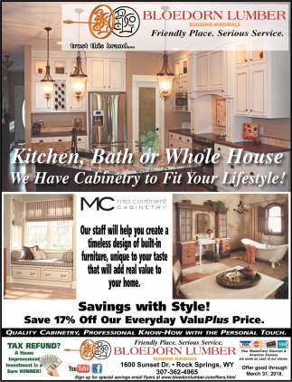 Kitchen, Bath or Whole House, We Have Cabinetry to Fit Your Lifestyle!