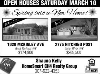 Open Houses Saturday March 10