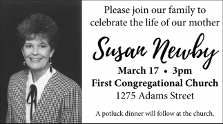 Please join our family to celebrate the life of our mother