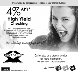 5% APY High Yield Checking