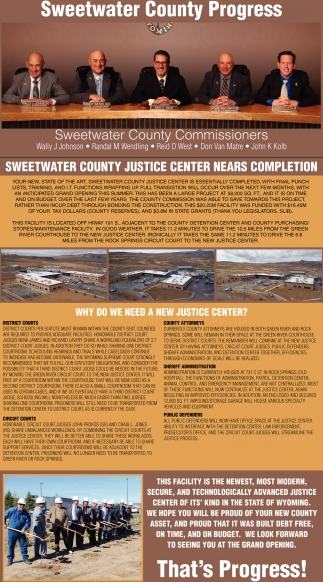 Sweetwater County Progress