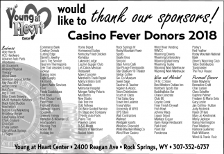 Casino Fever Donors 2018, Young at Heart Center, Rock