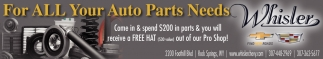 For ALL Your Auto Parts Needs