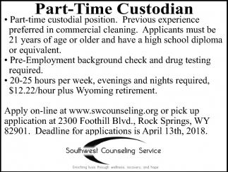 Part-Time Custodian