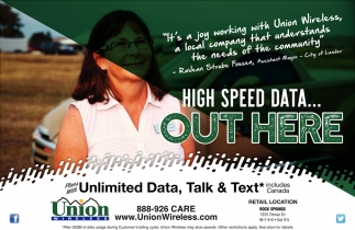 High Speed Data... Out Here
