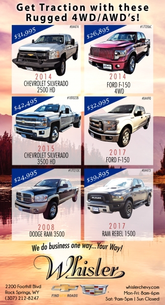 Get Traction with these Rugged 4WD/AWD's!