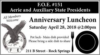 Anniversary Luncheon