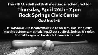 The FINAL adult softball meeting