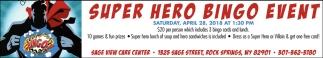 Super Hero Bingo Event