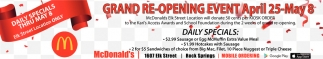 Grand Re-Opening Event