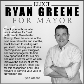 Elect Ryan Greene for Mayor