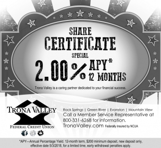 Share Certificate Special