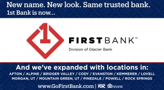 New name. New look. Same trusted bank.