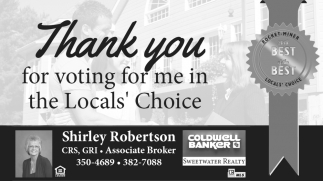 Thank You for Voting for me in the Local's Choice