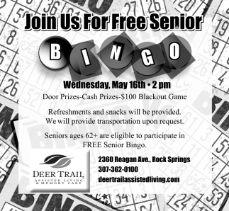 Join Us for Free Senior Bingo