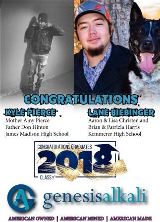 Congratulations Kyle Pierce - Lane Biebinger