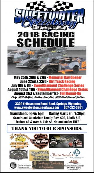 2018 Racing Schedule