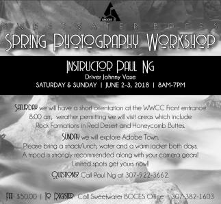 Spring Photography Workshop