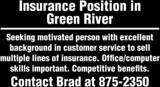 Insurance Position in Green River