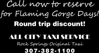 Round Trip Discount!