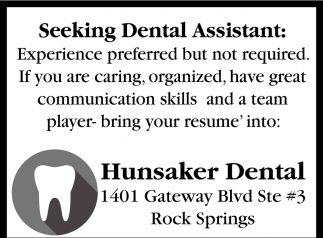 Seeking Dental Assistant