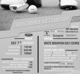 2018 Cowboy Joe Club Golf