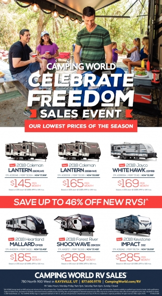 Camping World Kaysville >> Celebrate Freedom Sales Event Camping World