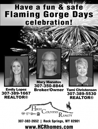 Have a Fun & Safe Flaming Gorge Days Celebration!