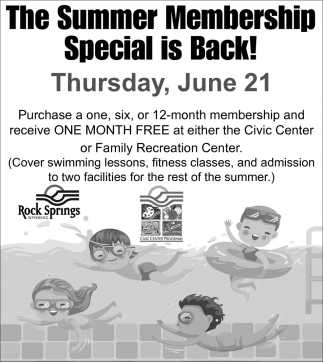 The Summer Membership Special is Back!