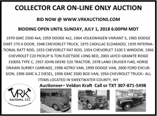 Collector Car On-Line Only Auction