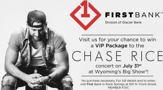 Visit Us for Your Chance to Win a VIP Package to the Chase Rice Conccert