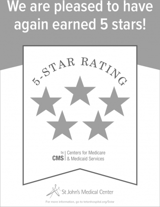 We are Pleased to Have Again Earned 5 Stars!