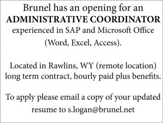Administrative Coordinator, Brunel