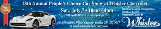18th Annual People's Choice Car Show at Whisler Chevrolet
