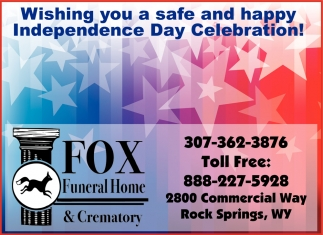 Wishing You a Safe and Happy Independence Day Celebration!
