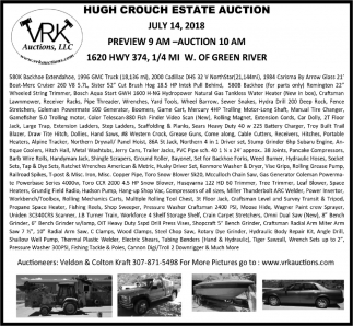 Hugh Crouch Estate Auction