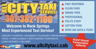Welcome to Rock Springs Most Experienced Taxi Service!
