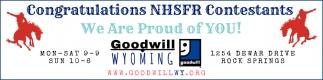 Congratulations NHSFR Constestants