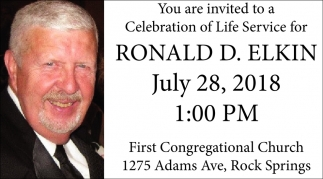 You are Invited to a Celebrationof Life Service