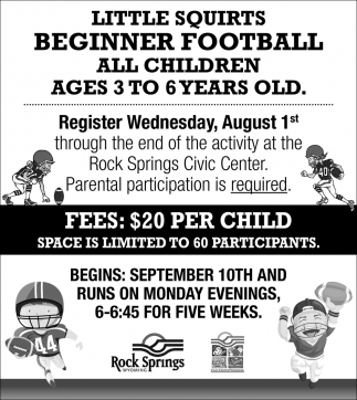 Little Squirts Beginner Football