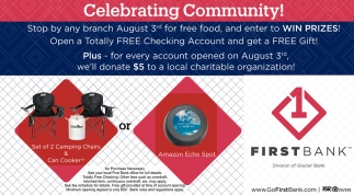 Celebrating Community!, First Bank, Lovell, WY