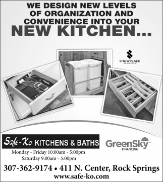 New Kitchen, Safe-Ko Kitchens and Baths, Rock Springs, WY
