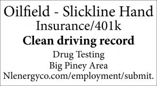 Oilfield - Slickline Hand