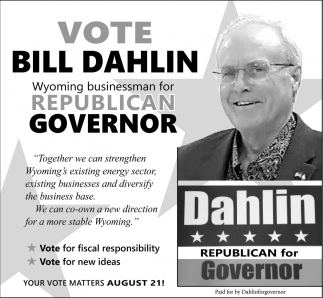 Vote Bill Dahlin