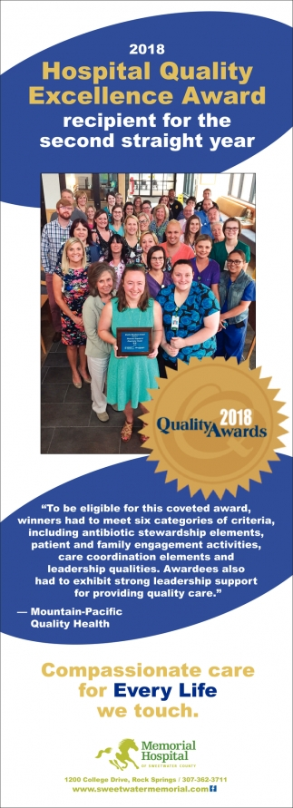 2018 Hospital Quality Excellence Award